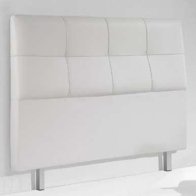 Cabezal tapizado blanco...