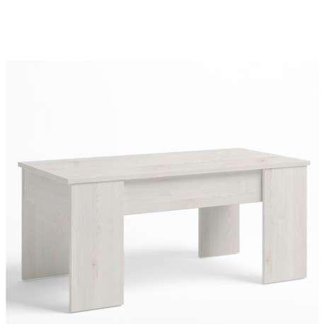 Mesa centro elevable color blanco nordic