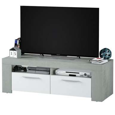 Mesa TV Cemento estilo...