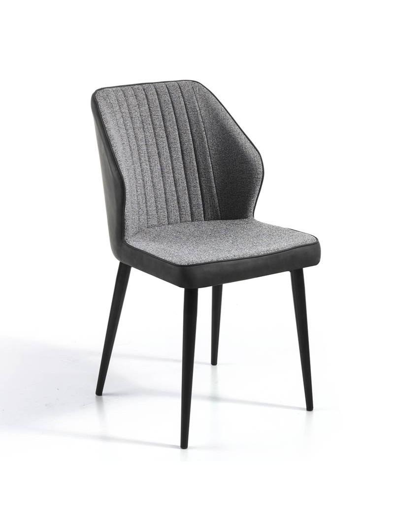 Silla diseño salón Baya gris negro