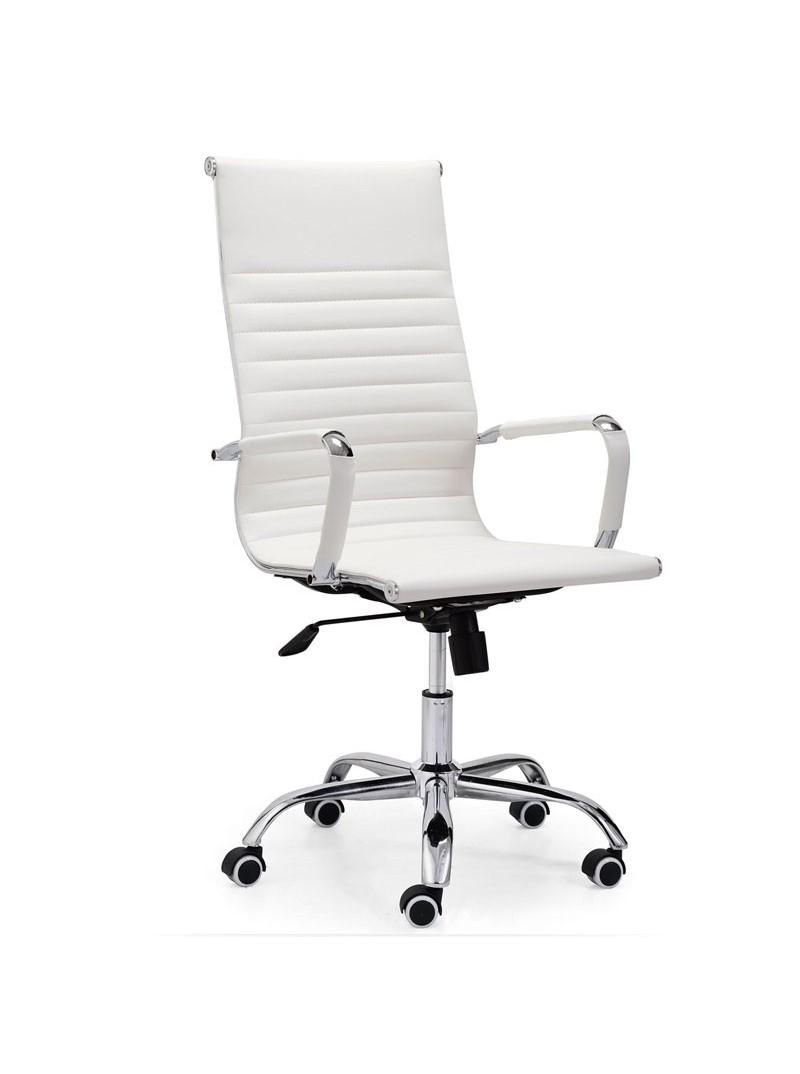 Silla escritorio con ruedas blanca