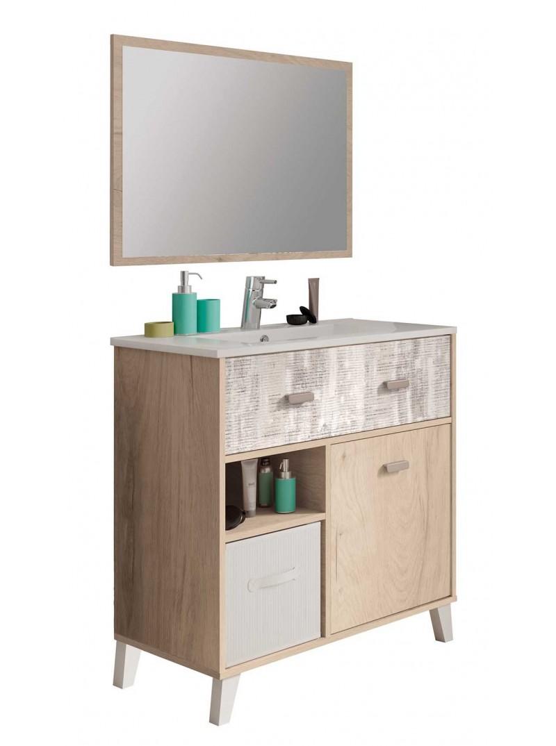 Mueble de baño cambrian  con espejo y lavamanos