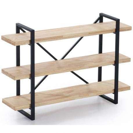 Estanteria Plank roble y negro industrial