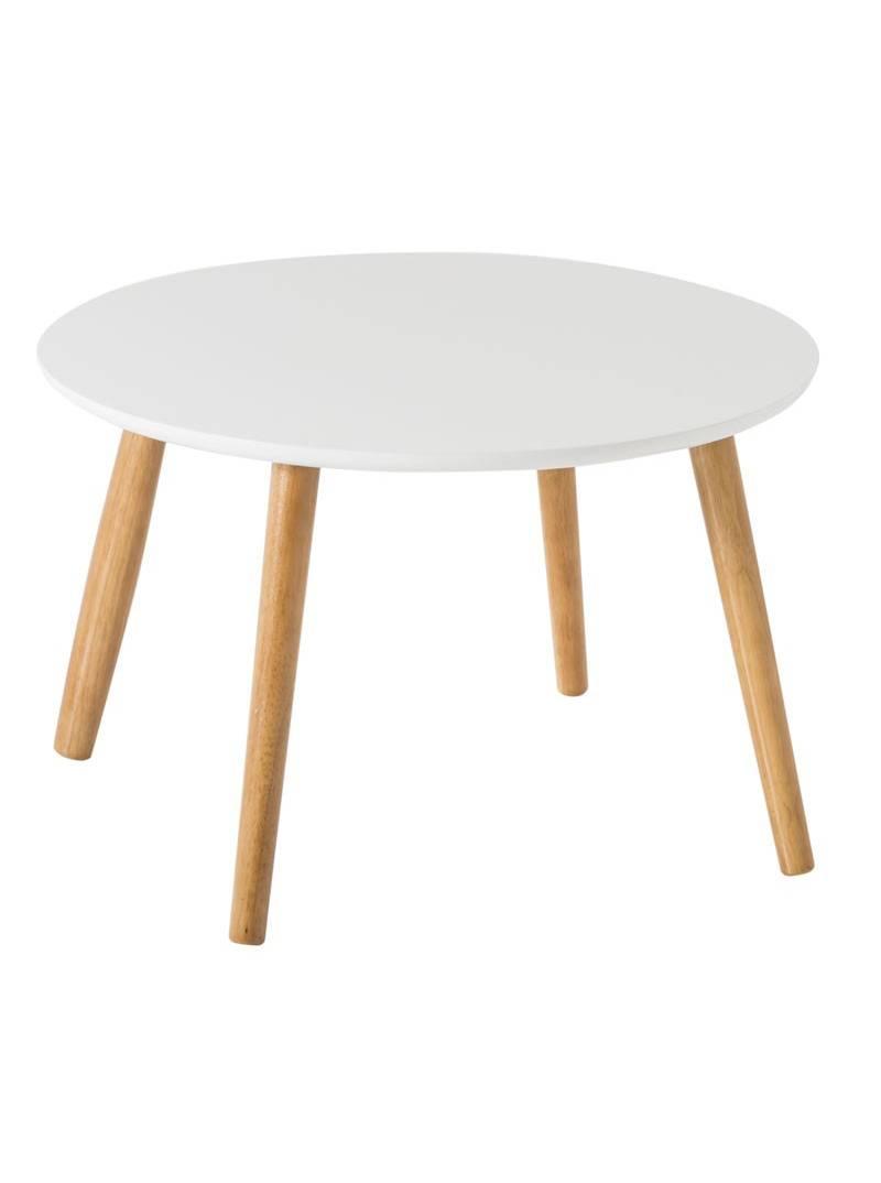 Mesa auxiliar blanca redonda