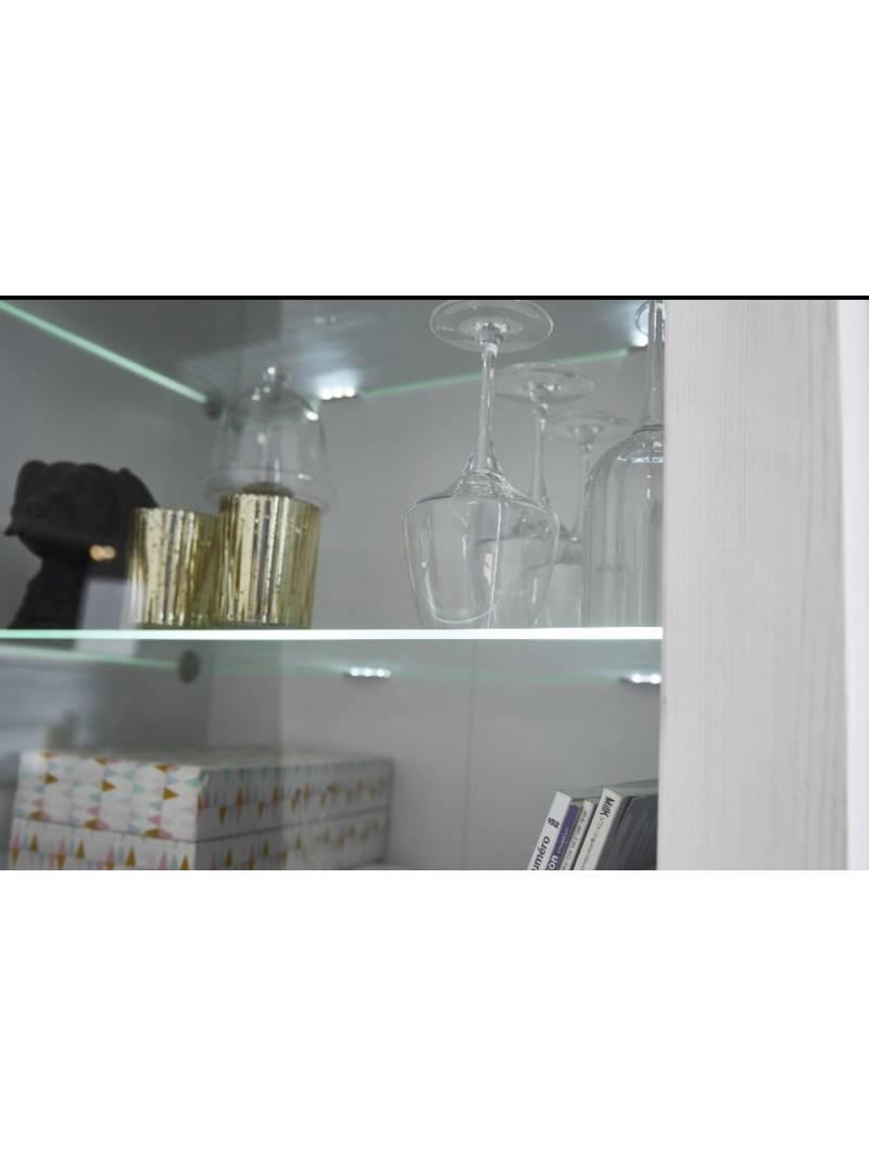 Vitrina con cristal 1 cajón