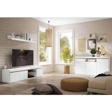 Pack salón color blanco mate y naturale