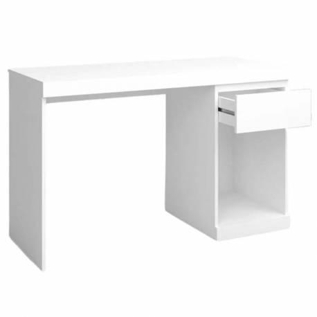 Mesa escritorio blanco Boro 1 cajón moderno