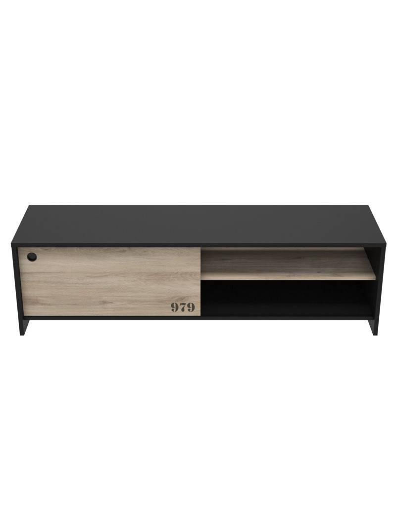 Mesa TV Tomy color negro y kronberg industrial