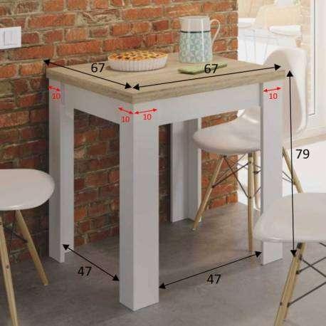 Mesa cocina extensible Livre auxiliar