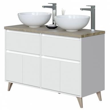 Mueble baño doble 2 cajones...