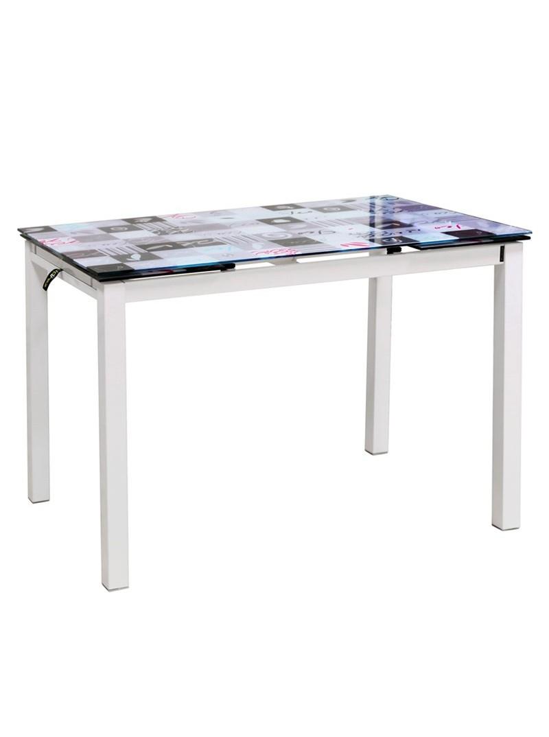 Mesa de cocina extensible mosaico