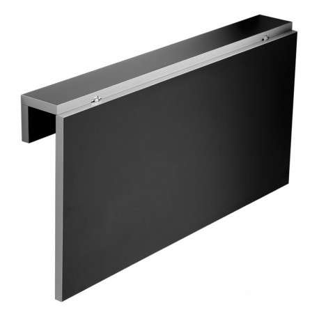 Mesa cocina de pared Vera color negro