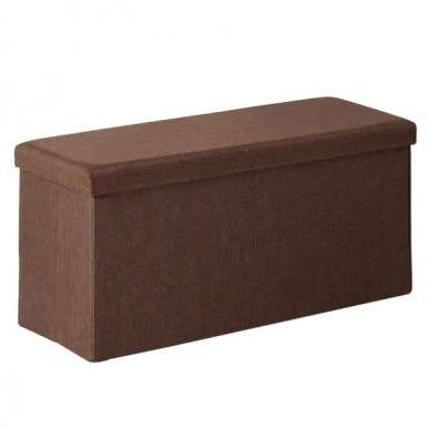 Pouf marrón rectangular con...
