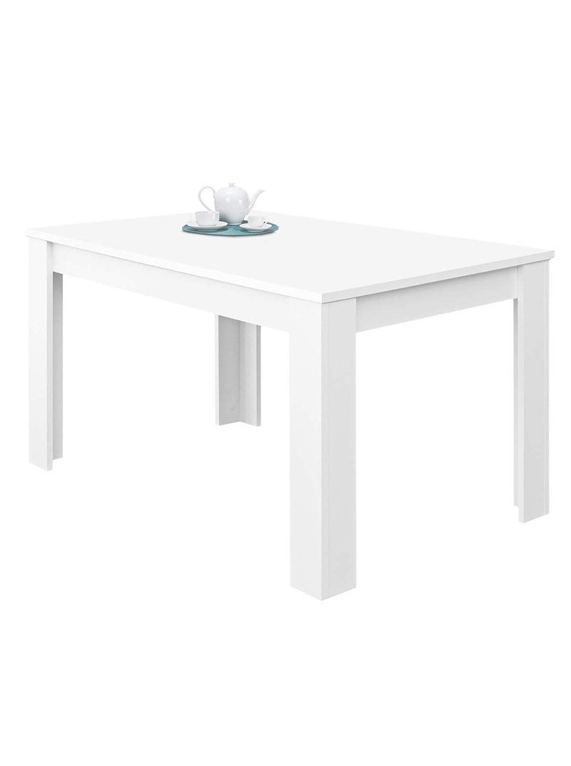Mesa extensible blanco mate