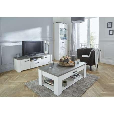 Mesa TV pino y roble