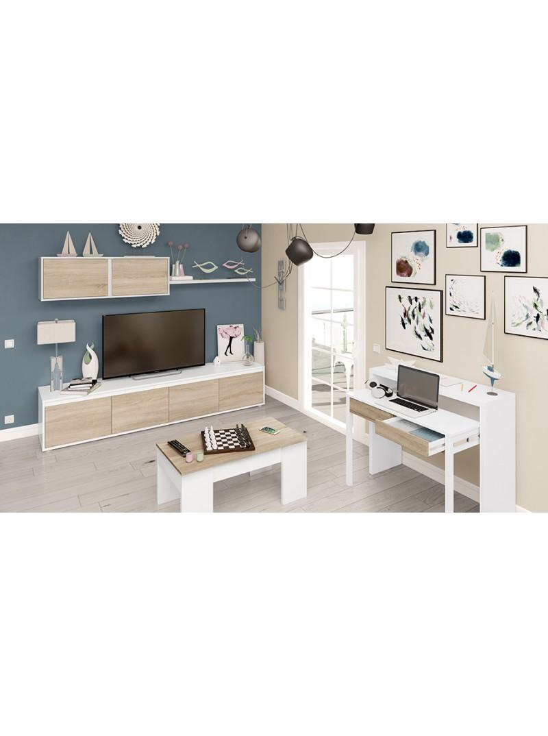 Mesa de centro elevable blanco