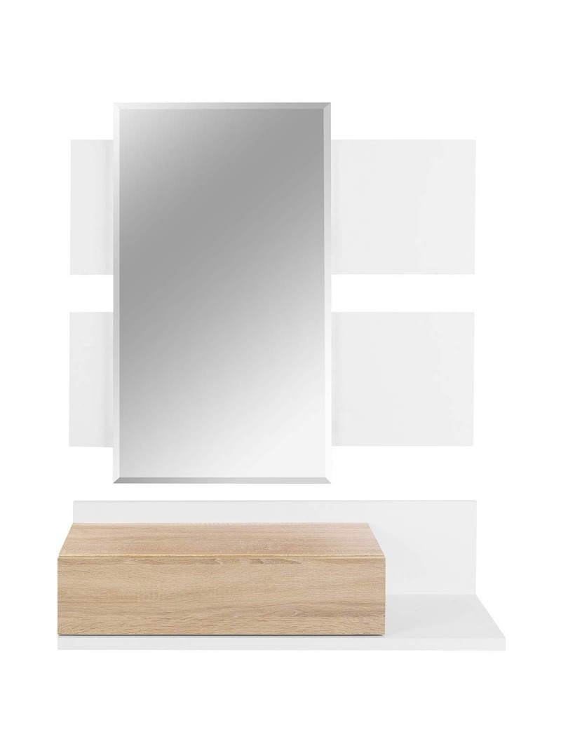 Recibidor con espejo 75 x 120 cm.