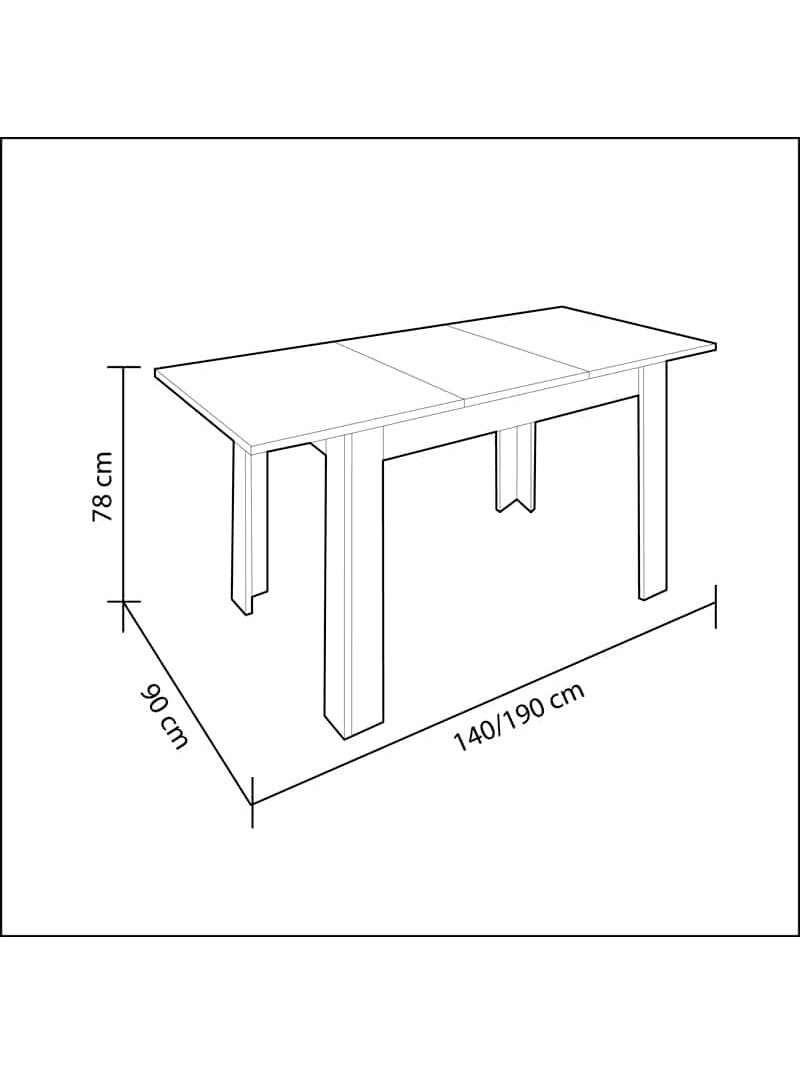 Mesa de comedor extensible